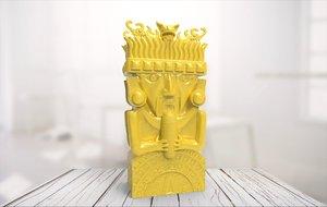 3D statue 06 model