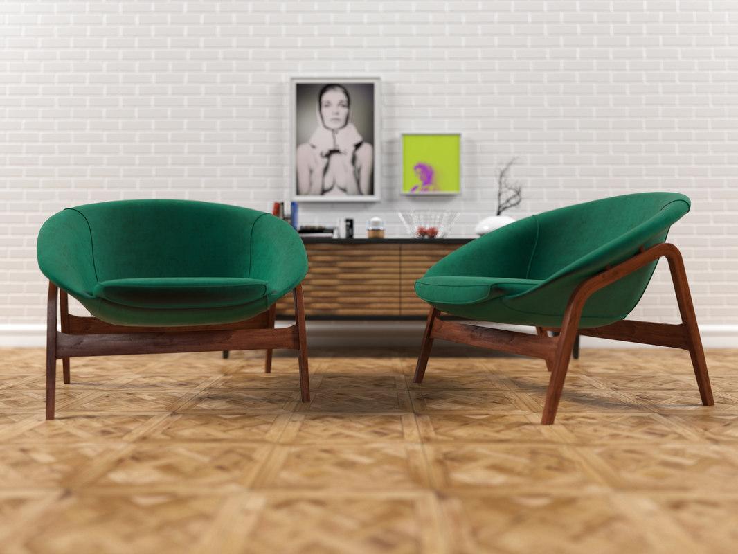 3D model columbus armchair