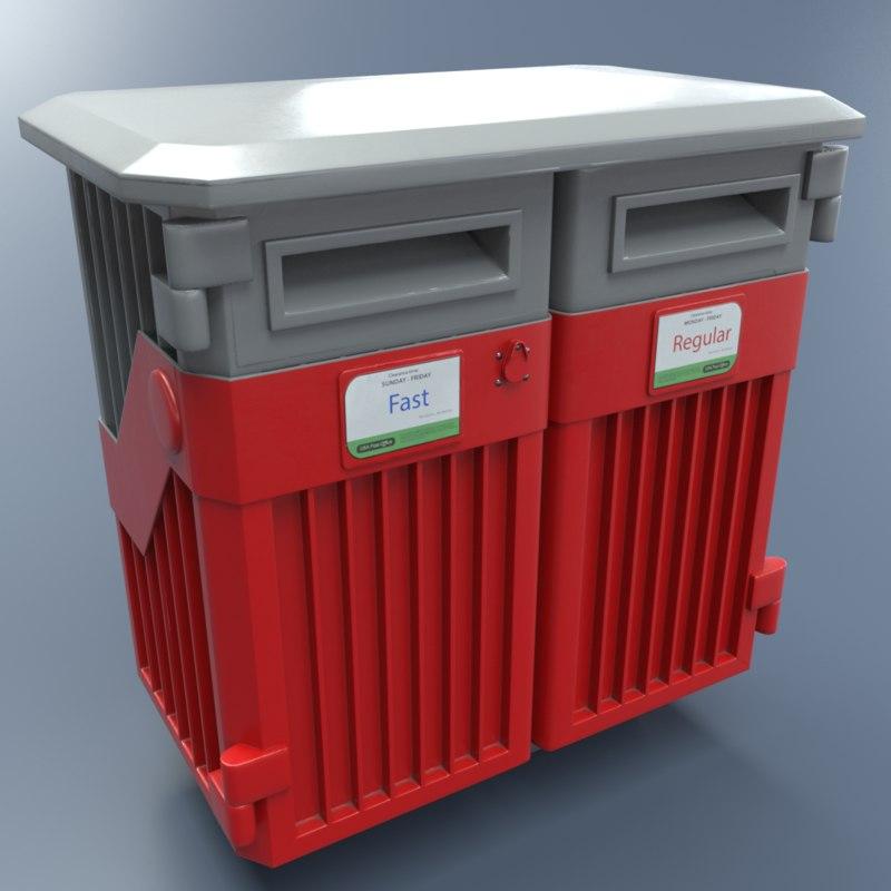 3D mailbox pbr metallic