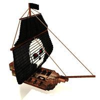 pirate ship 3D model