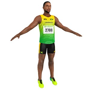 sprinter athlete 3D model