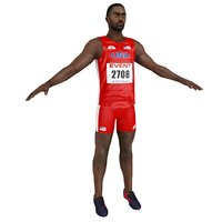 3D sprinter athlete model