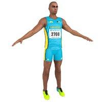 3D sprinter athlete