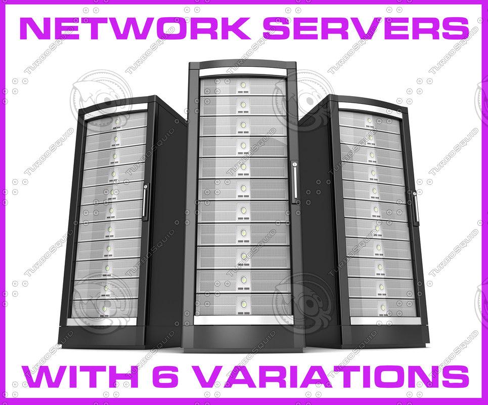 network server 3D model