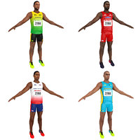 pack sprinter athlete 3D