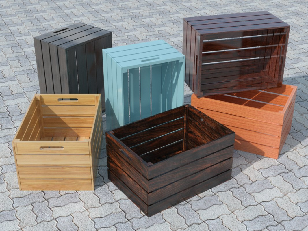 wood crate - huacal 3D model