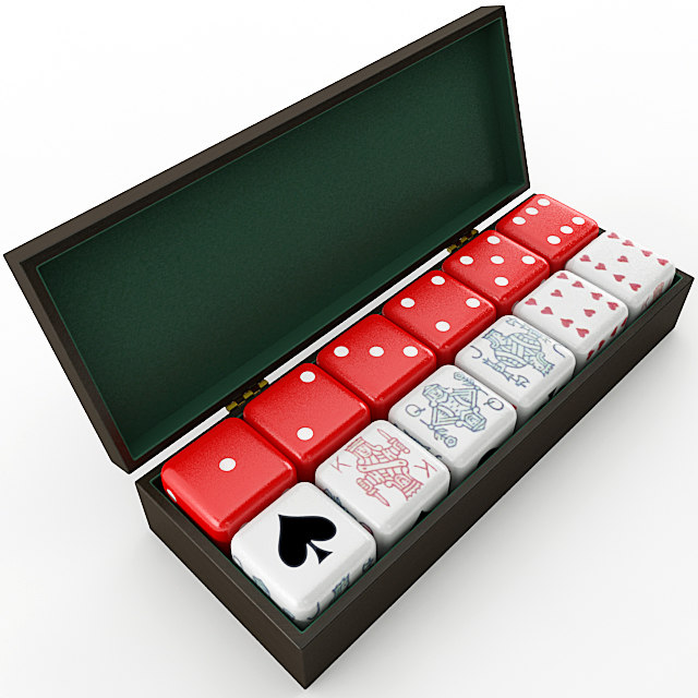 poker dice box 3D model