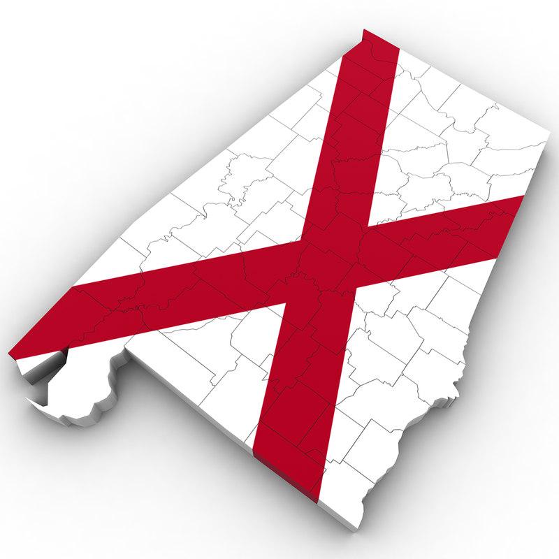 3d Political Alabama Model Turbosquid 1302421