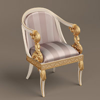 antique armchair 3D model