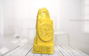 3D statue 07 model