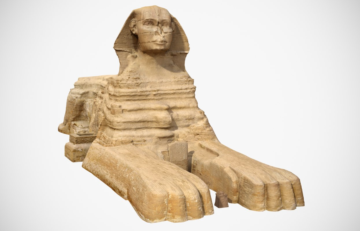 great sphinx giza scan 3D model