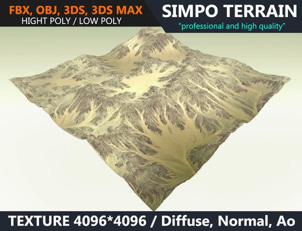 realistic terrain polys games 3D