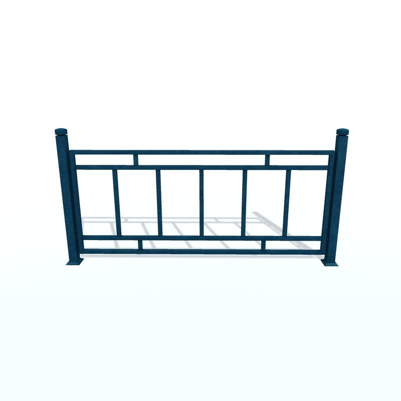 fencing d 3D model