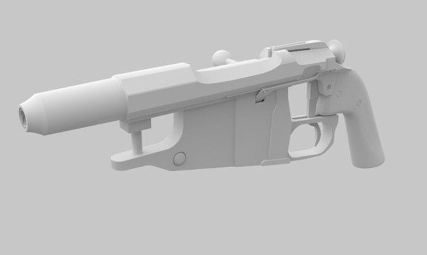 3D obrez pistol russian model