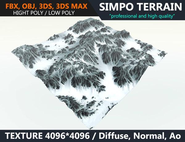 snow terrain model