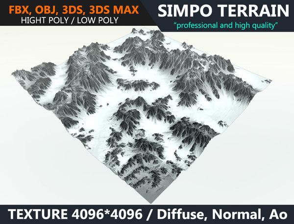 3D snow terrain
