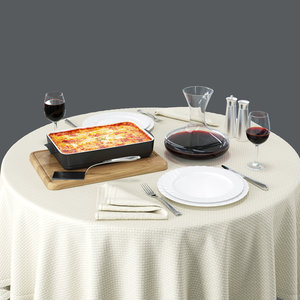 3D lasagne set model