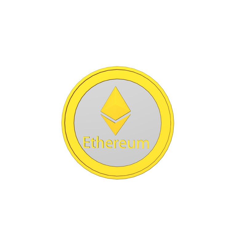 3D model ethereum cryptocurrency