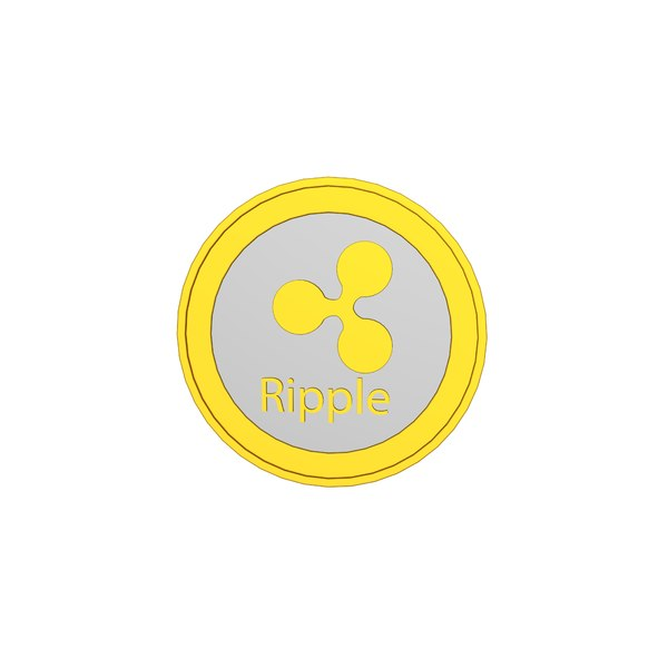 ripple cryptocurrency crypto 3D model