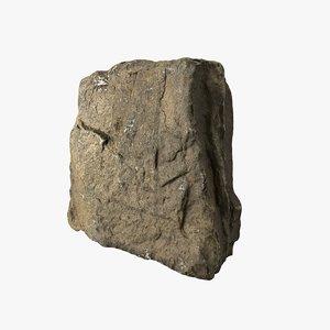 3D rock scan pbr 8k model