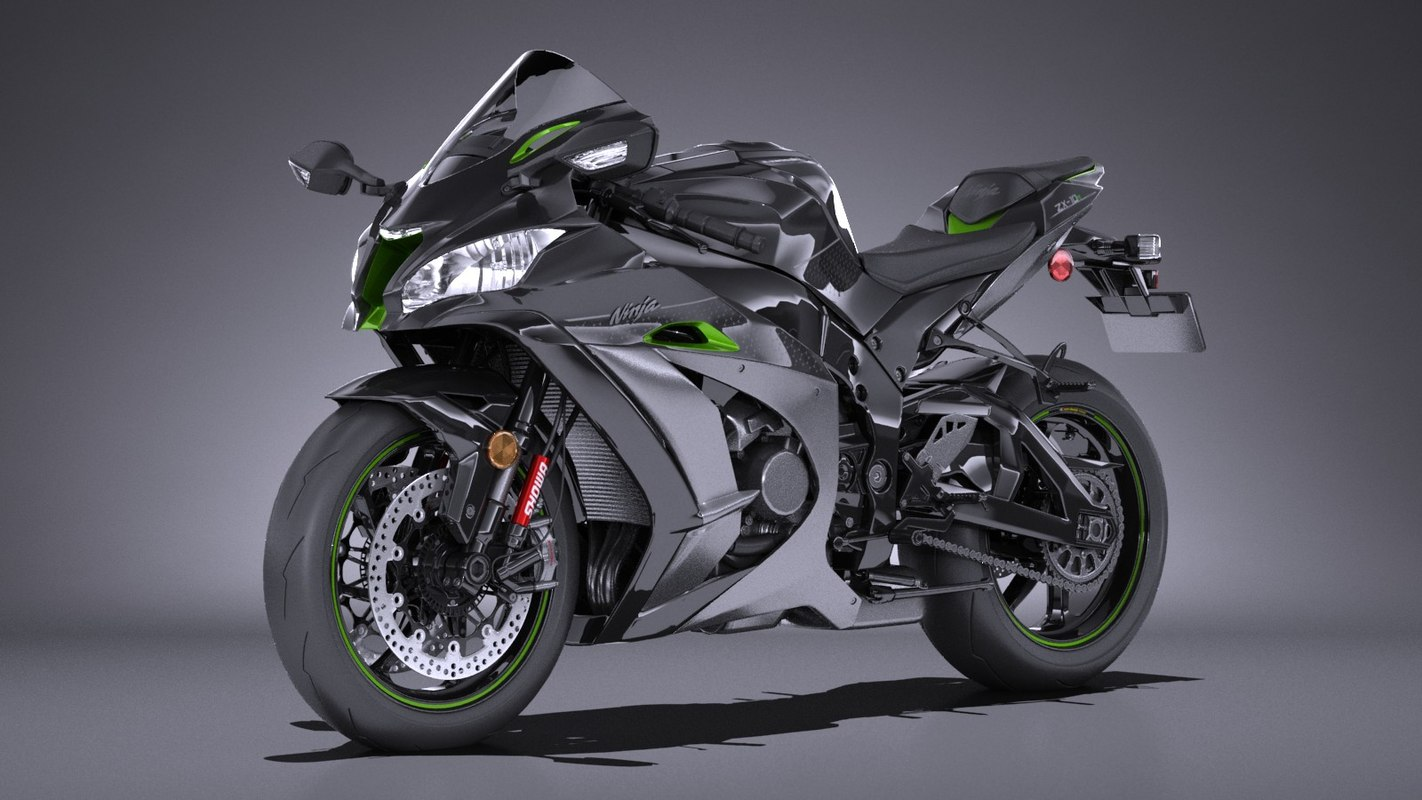 3d Model Kawasaki Ninja Zx10r Turbosquid 1302504