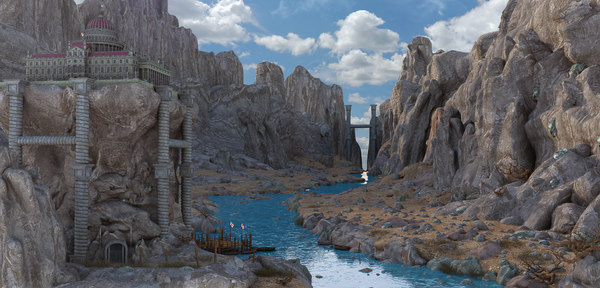 fantasy river 3D model