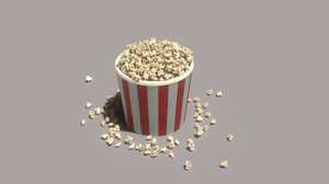 bursting popcorns 3D model
