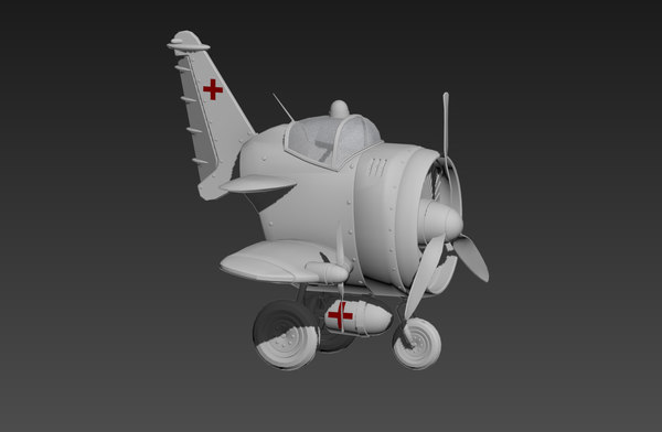 3D plane cartoon model