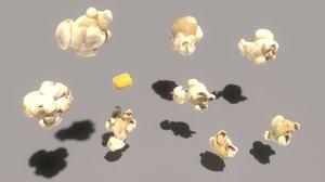 3D corn popcorn model