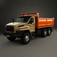 3D model ural tipper 2016