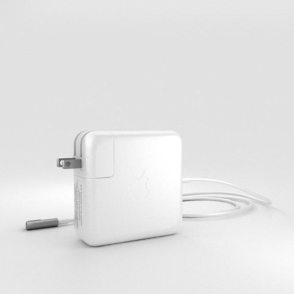 3D apple 60w magsafe model