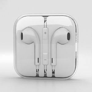 apple earpods ear 3D