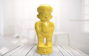 3D statue 08 model