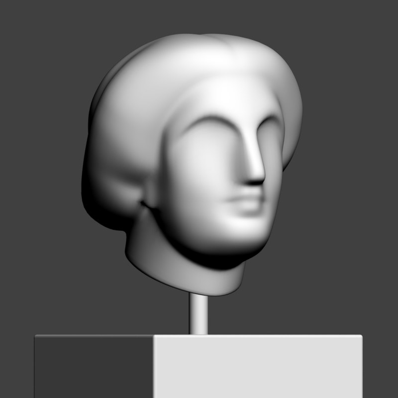 abstract head woman 3D model