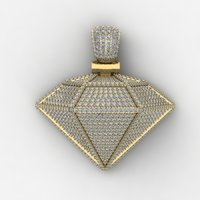 heavy diamond pendent and necklace