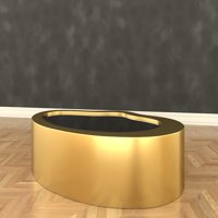 coffee table gibbons 3D model
