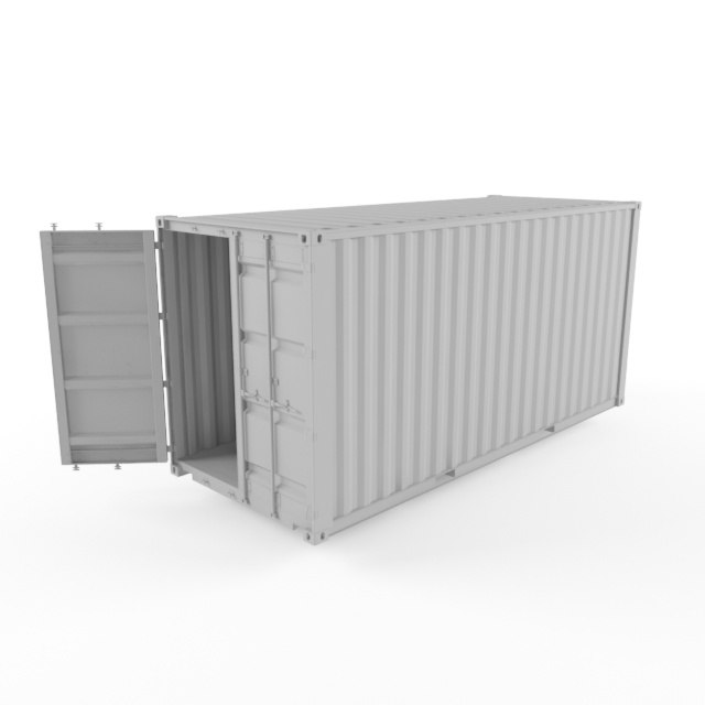 3D 20ft shipping container model