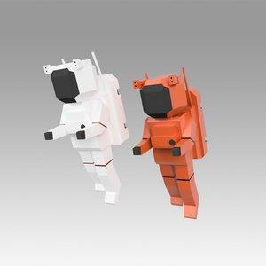 3D astronaut set