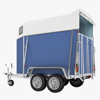 3D niewiadow horse trailer model