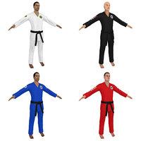 3D pack jiu jitsu martial