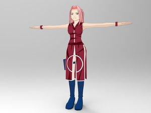 3D ninja girl