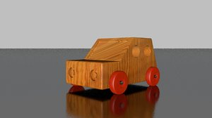 wooden toy car model