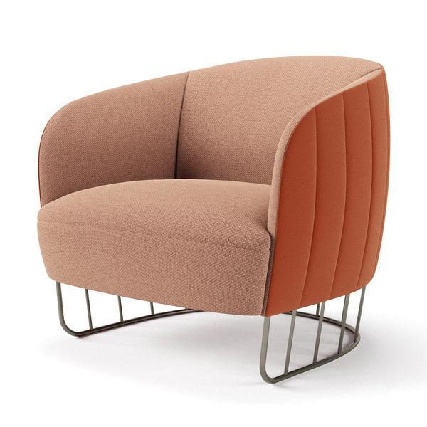 3D tonella armchair model