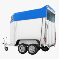 niewiadow horse trailer 3D model