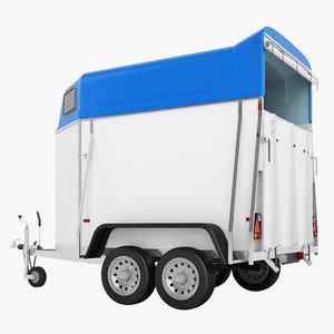 niewiadow horse trailer 3D model