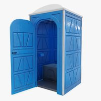 public toilet door opened 3D model