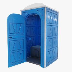 public toilet door opened 3D model