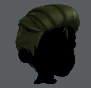 3D boy hair model