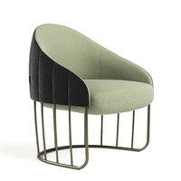 tonella fabric armchair 3D model