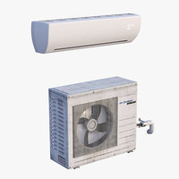 3D model split air conditioner